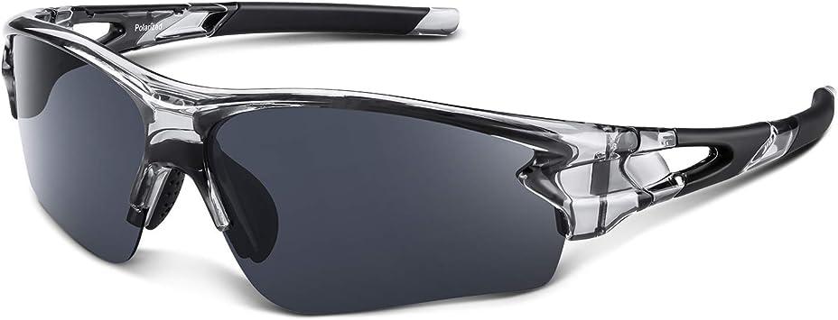 Gafas de Sol Polarizadas - Bea·CooL Gafas de Sol Deportivas Unisex Protección UV con Monturas Ligeras para Esquiando Ciclismo Carrera Surf Golf Conduciendo (Gris transparente): Amazon.es: Deportes y aire libre
