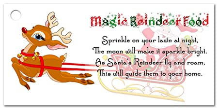 photograph regarding Printable Reindeer Food Tags called Magic Reindeer Foods Tags Labels for amusing Xmas small children game and universities, do it yourself stocking fillers (25)
