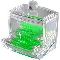 LAAT. 1pz Acrilico Cotton Box Cotton Ball Holder Acrilico Cotton Tamponi Holder Cotton Ball Container Cotton-Pad Dispenser Scatola di immagazzinaggio Trasparente Custodia per Trucco cosmetico