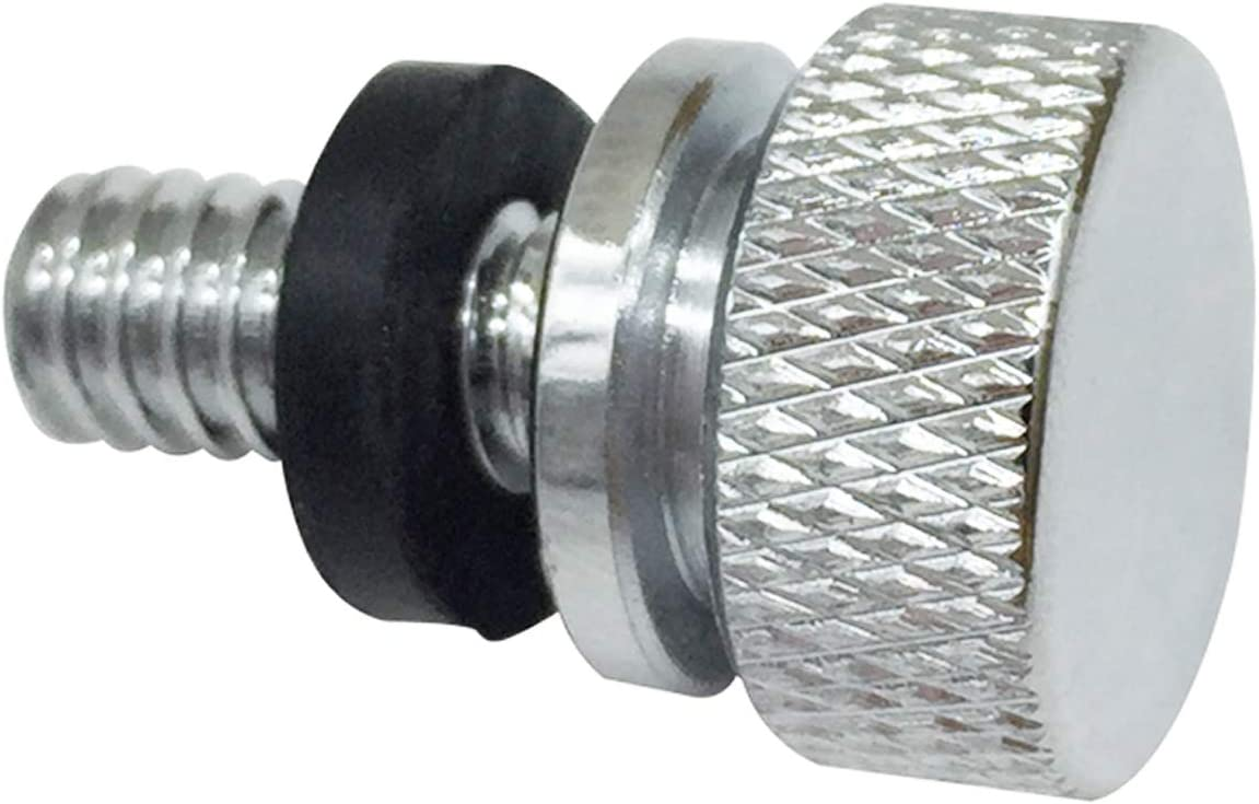 Street Glide 1996-2020 Chrome Stainess Steel Rear Fender Seat Bolt Screw Mount Compatible for Most Harley Touring Fatbob Dyna Softail Streetbob