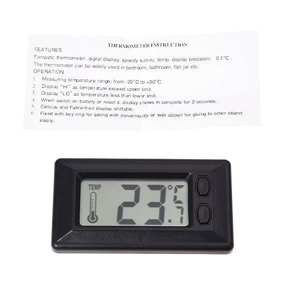 Amazon.es: SODIAL(R) Termometro de Temperatura interior de coche con Pantalla LCD Digital