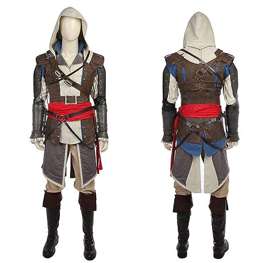 nihiug Juego de la Bandera Negra de AssassinS Creed 4 Ropa COS ...