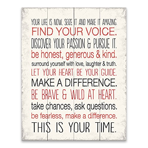 Artissimo Designs Your Life Is Now, 1-Piece Sign. Image Printed Canvas Art, 20 Inch by 16-Inch,Great for Any Decor by Artissimo Designs