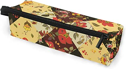 Estuche para lápices Gafas de sol Cuadros Patchwork Flor Cosmética Estudiantes Papelería Cremallera para niñas Niños: Amazon.es: Oficina y papelería