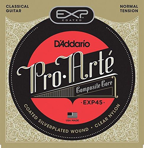 D'Addario EXP45 Coated Classical Guitar Strings, Normal Tens