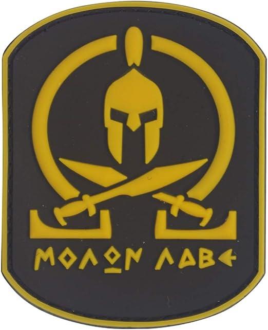 Cobra Tactical Solutions Molon Labe Amarillo Parche PVC Táctico Moral Militar con Cinta adherente de Airsoft Paintball para Ropa de Mochila Táctica: Amazon.es: Hogar