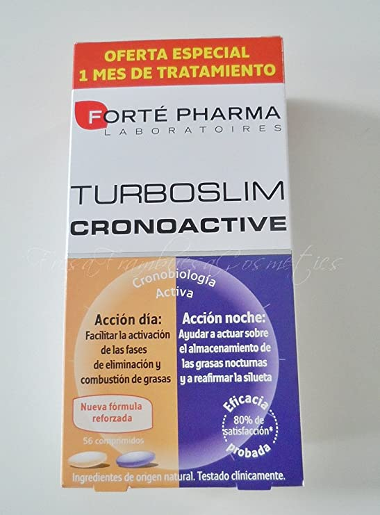 Forté Pharma Turboslim Cronoactive - Presentación 1 Mes 56 Comps.: Amazon.es: Salud y cuidado personal