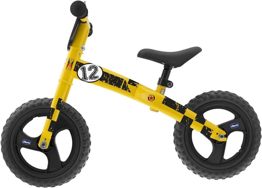 Chicco - Bicicleta sin Pedales con sillín Regulable, Color Amarillo (00007413000000): Amazon.es: Juguetes y juegos