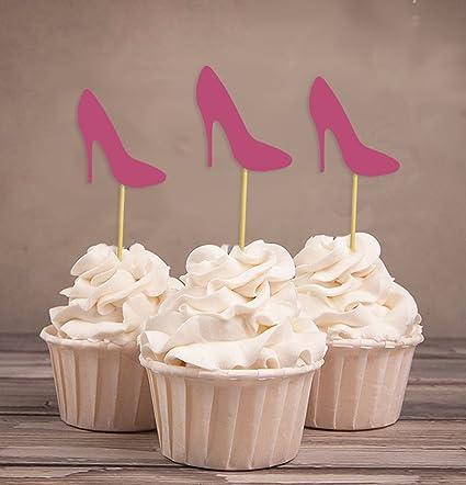 darling souvenir high heel bridal shower cupcake toppers wedding birthday party dessert decorations