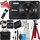 Nikon Coolpix S7000 16 MP Digital Camera with 20x Optical Image Stabilized Zoom 3-Inch LCD (Black) + PRO DigitalAndMore Accessories Bundle