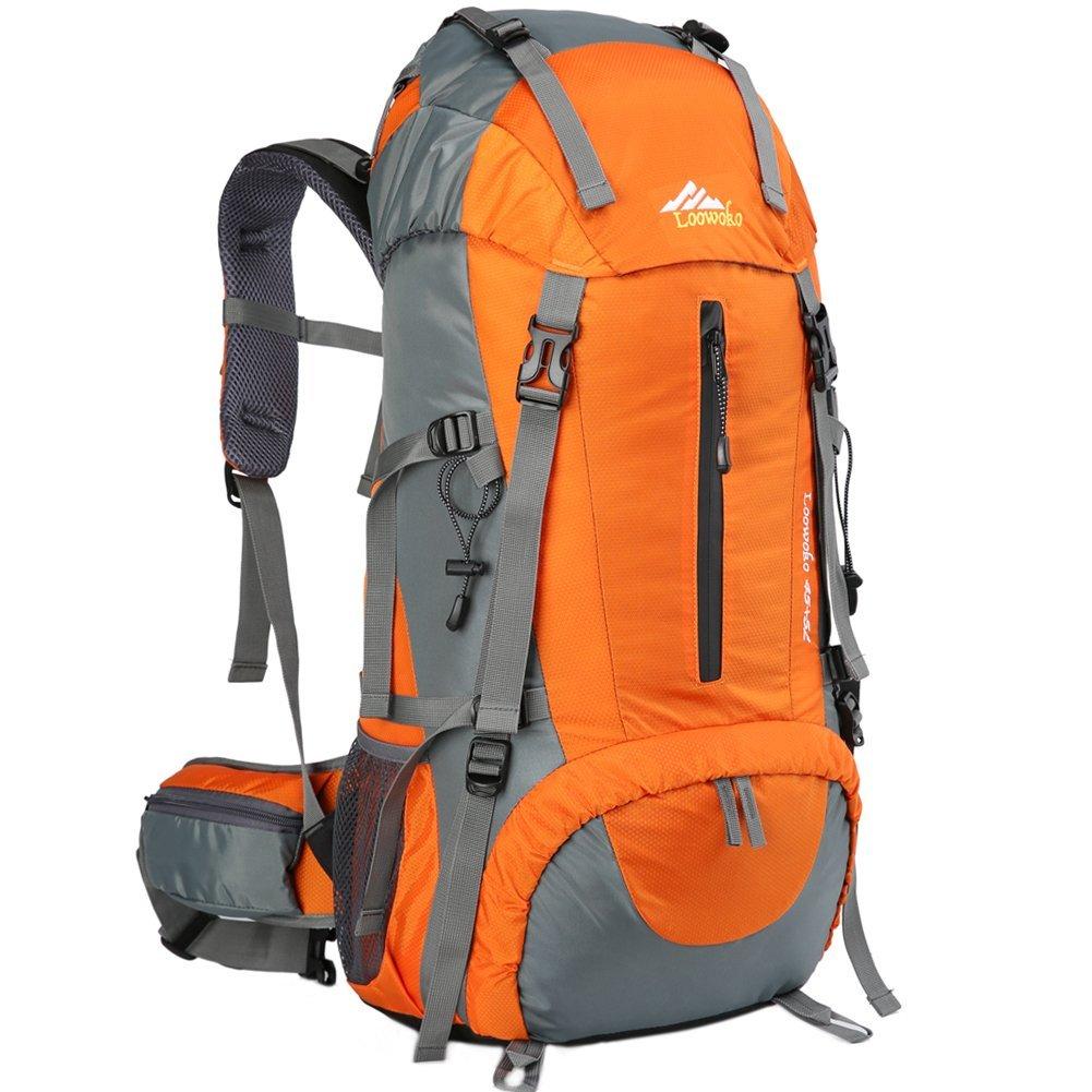 Loowoko 50L Impermeable Senderismo Mochila Montañismo Daypack Trekking Camping Deporte con Cubierta Lluvia Al Aire Libre para Viaje Acampar: Amazon.es: ...