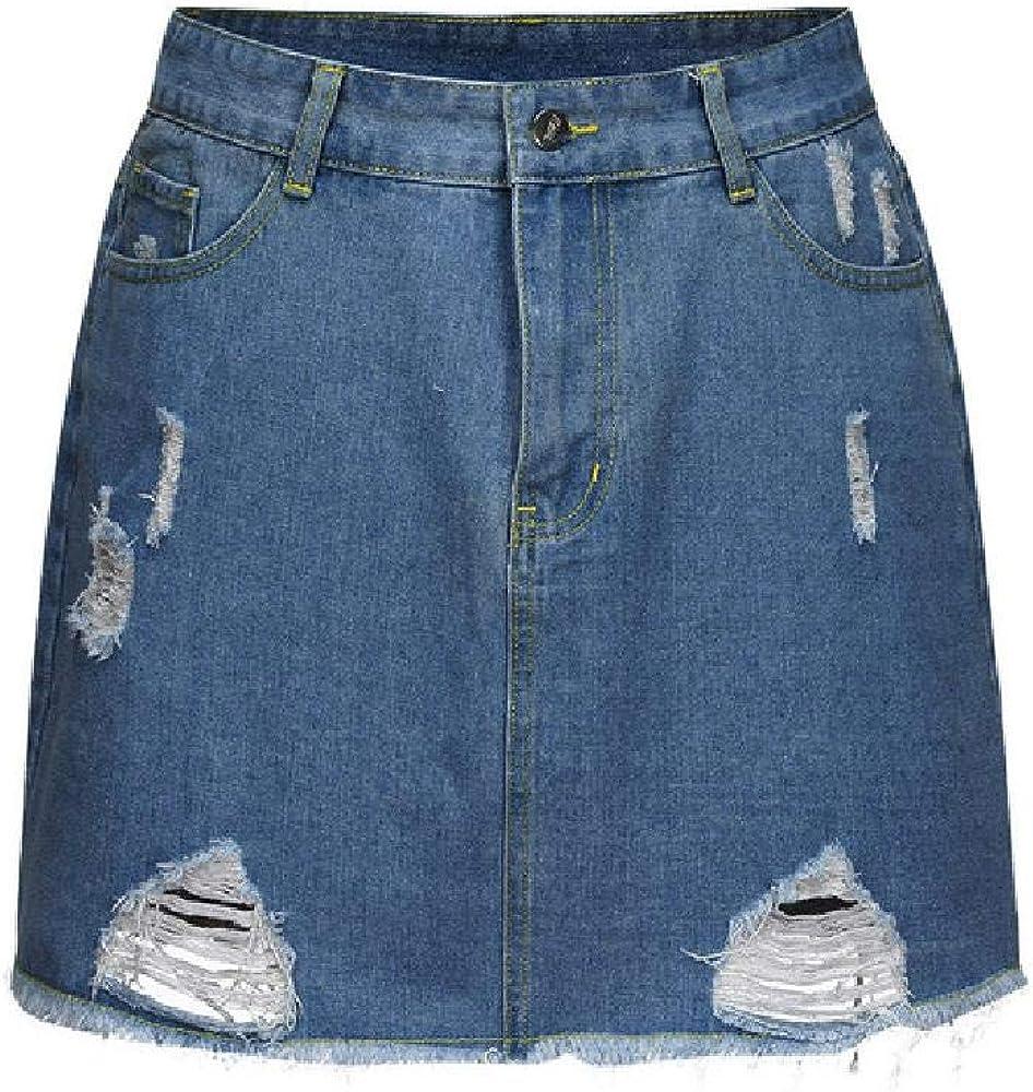 Falda de Mujer Summer Plus Size Falda Acampanada Color sólido Botón con Cremallera de Bolsillo Mini Falda Falda de Moda 2020