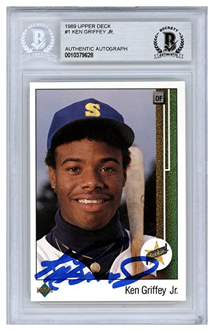 0bb88e02bd Ken Griffey Jr. Autographed Signed 1989 Upper Deck Rookie Card #1 Seattle  Mariners -