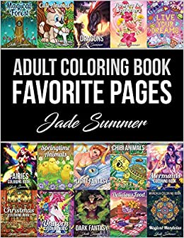 amazoncom adult coloring book favorite pages 50 premium coloring pages from the jade summer collection 9781982989811 jade summer books