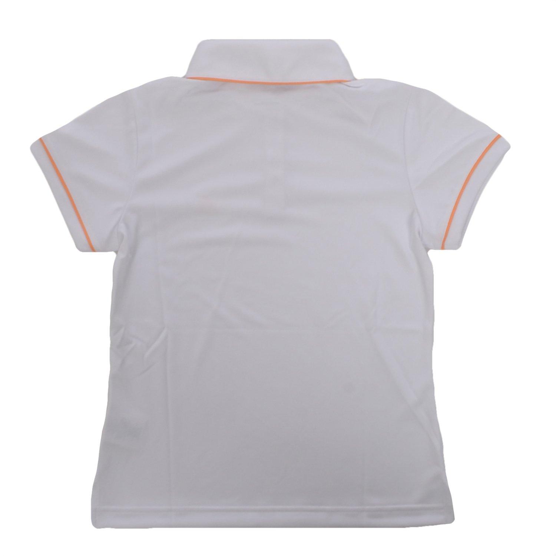 adidas Performance - Polo Niña - Golf - Blanco/Naranja - S: Amazon ...