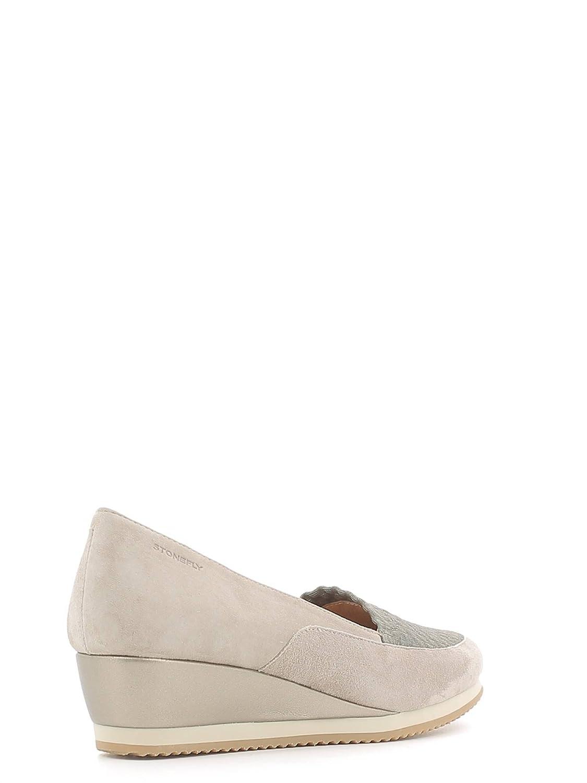 Stonefly 106015 Mocasines Mujer Gamuza Gris Pardo 38: Amazon.es: Zapatos y complementos