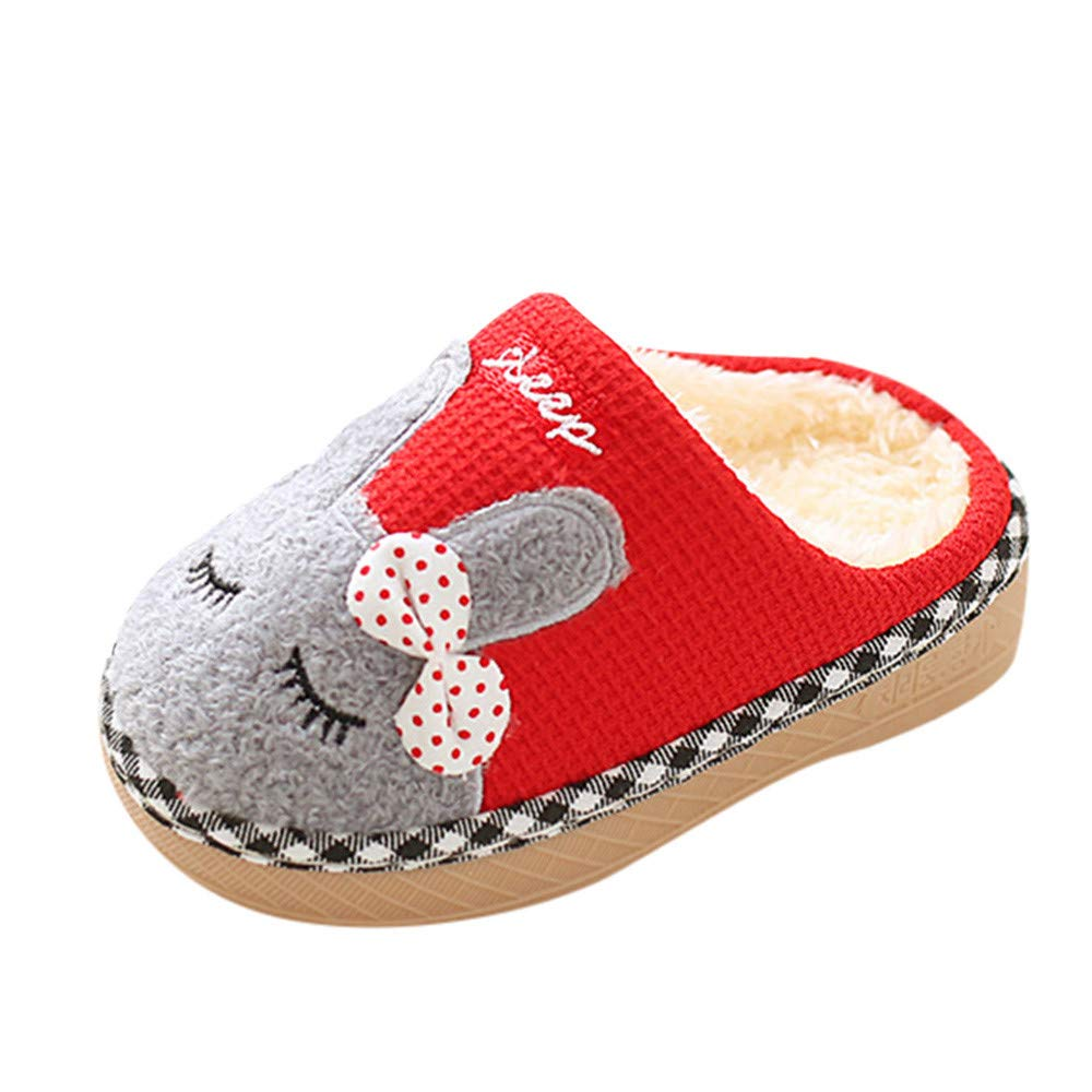 b982b342b Amazon.com  Infant Toddler Baby Boys Girls Shoes Winter Home Slippers 1-10  Years Old Kids Cartoon Warm Indoors Floor Shoes  Clothing