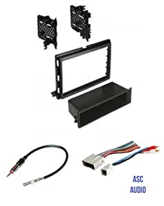 ASC Audio Car Stereo Radio Install Dash Kit, Wire Harness, and Antenna Adapter to Install an Aftermarket Radio for some Ford Lincoln Mercury Vehicles