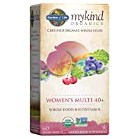 Garden of Life Multivitamin for Women - mykind Organic Women's 40+ Whole Food Vitamin...