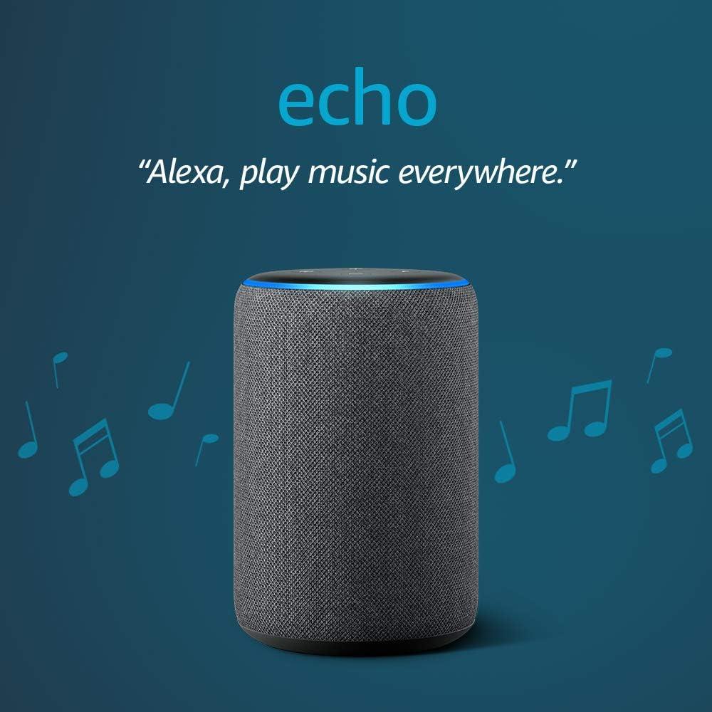 Echo (3rd Gen) - Smart speaker with Alexa - Charcoal