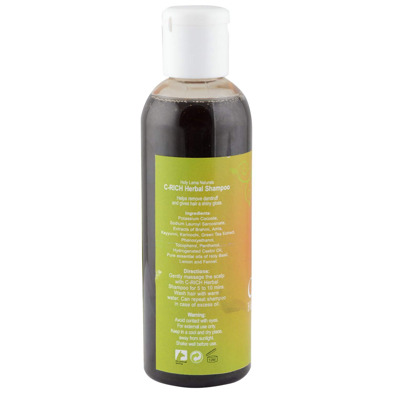 Holy Lama Naturals C-Rich Herbal Shampoo, 100ml