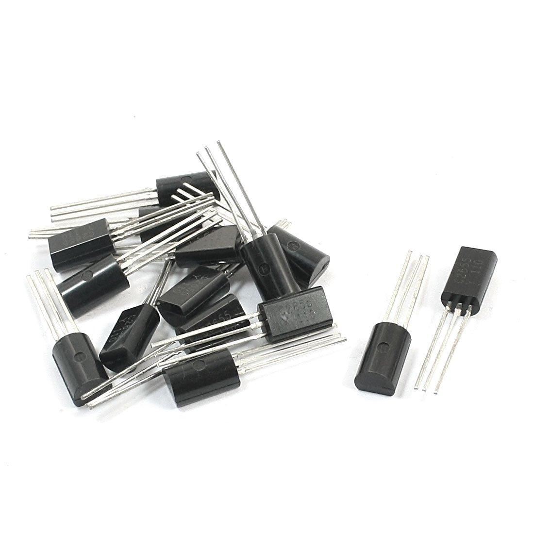 Aexit 15Pcs 2SC2655 Transistors NPN PCB Surface Mount General Purpose Transistor MOSFET Transistors 50V 2A