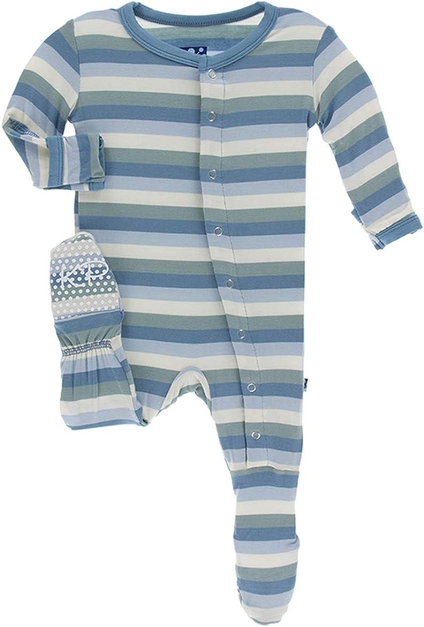 KicKee Pants Print Ruffle Short in Tuscan Vineyard Stripe 18-24 Months