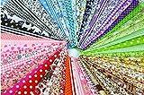 "60 Pcs 4"" x 4""(10cm x 10cm) Assorted Craft Fabric"