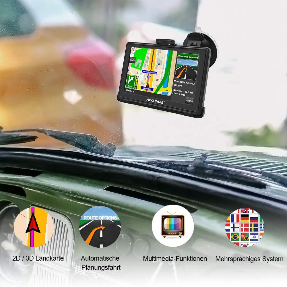 camion touchscreen auto AWESAFE con supporto per navigatore 5 pollici Navigatore GPS per auto
