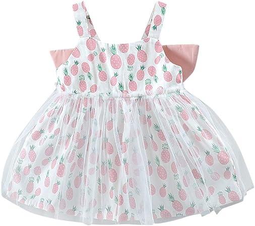 Amazon.com: Vestido de tutú para niña, con estampado de ...