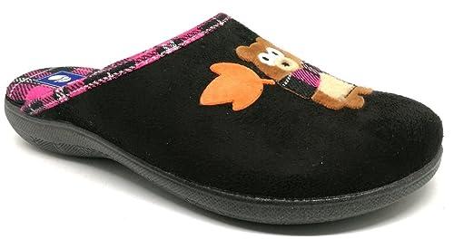 INBLU Pantofole Ciabatte Invernali da Donna Art. Bq-125 Nero (36 ... e4a784a84dd