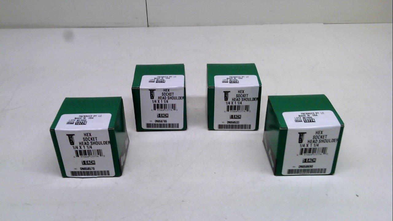 Stanley N57689 Pack of 4 Pack of 4 Head Shoulder Hex Socket 1//4 X 1 1//4 N57689