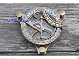 4''Collectible Antiqued Brass 5inch Sundial Compass Nautical Decor Maritime Gift A