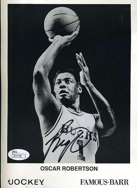 90df3843b Oscar Robertson Autographed Photo - Coa 6x9 Authentic - JSA Certified -  Autographed NBA Photos