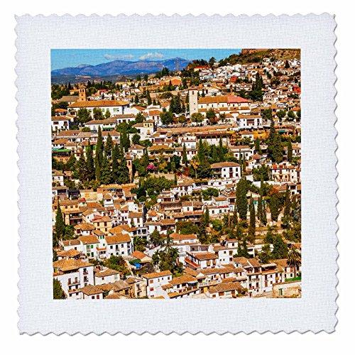 3dRose Danita Delimont - Cities - Cityscape, Albaicin Carrera Del Darro, Granada, Andalusia, Spain. - 20x20 inch quilt square (qs_257900_8) by 3dRose