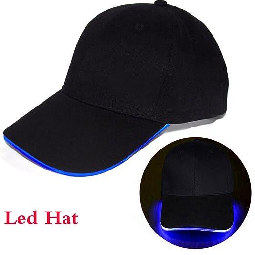 b8a2e85f7c0 LED Light Baseball Cap Sun Hats Sport Hip Hop Caps for Cycling Running Fishing  Outdoor Research