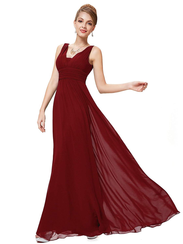 56326a338aec Ever-Pretty Abito da Sera Scollo a V Donna Lunga Chiffon Impero 08110:  Amazon.it: Abbigliamento