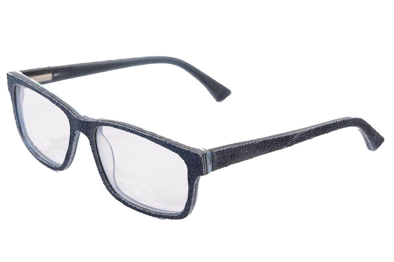 Clear Lens Glasses Frames Replaceable lens-006 UOOUOO Denim and Acetate Eyewear Frames