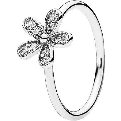 903f54868 Amazon.com: Pandora Ring Dazzling Daisy with Clear CZ 190932CZ-52 6 ...