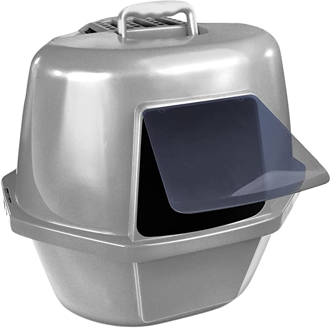 CAT LOVE Space Saver Corner Hooded Cat Pan