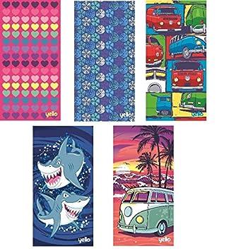Yello Toallas de gran tamaño, para la playa y el baño, 75 x 150 cm, diseños divertidos: Amazon.es: Hogar