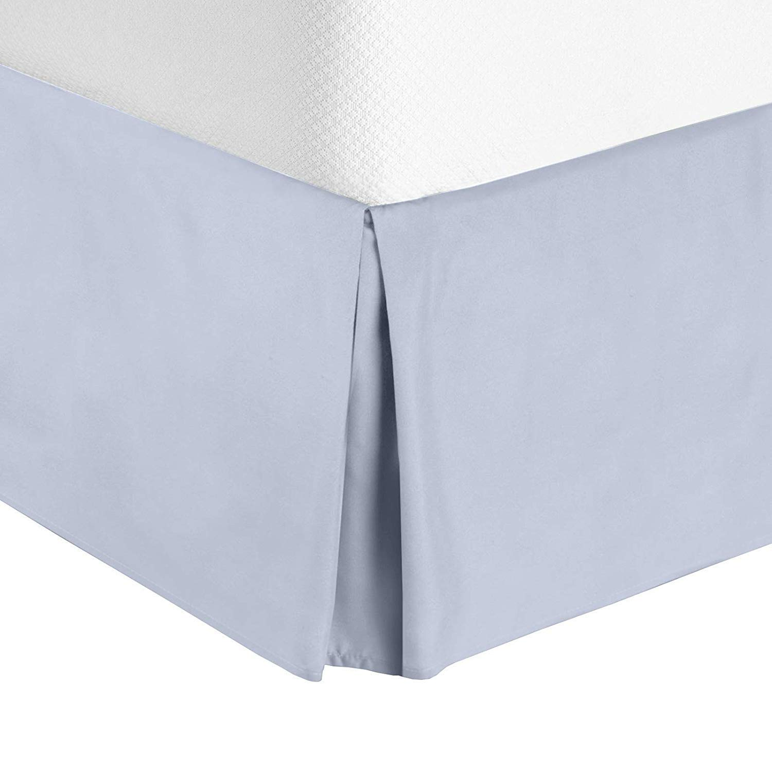 Pleated Bed Skirt With Split Corner 100/% Cotton 900 Thread Count King Size
