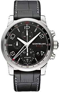 60bd384b652 Amazon.com: Montblanc Men's Star Stainless Steel Swiss-Automatic ...