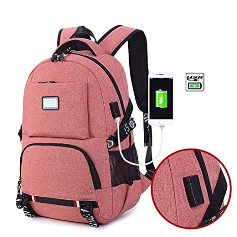 6eb60f356d79 Amazon.com: EHOO Fashion Unisex Travel Backpack,USB Port Shoulder ...