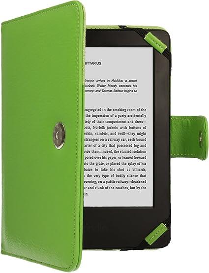 TECHGEAR Verde Kindle Funda de Cuero PU con Cierre magnético Carcasa para Amazon Kindle eReader y Kindle Paperwhite con Pantalla de 6 Pulgadas [Estilo de Libro] con Protector de Pantalla Incluido: Amazon.es
