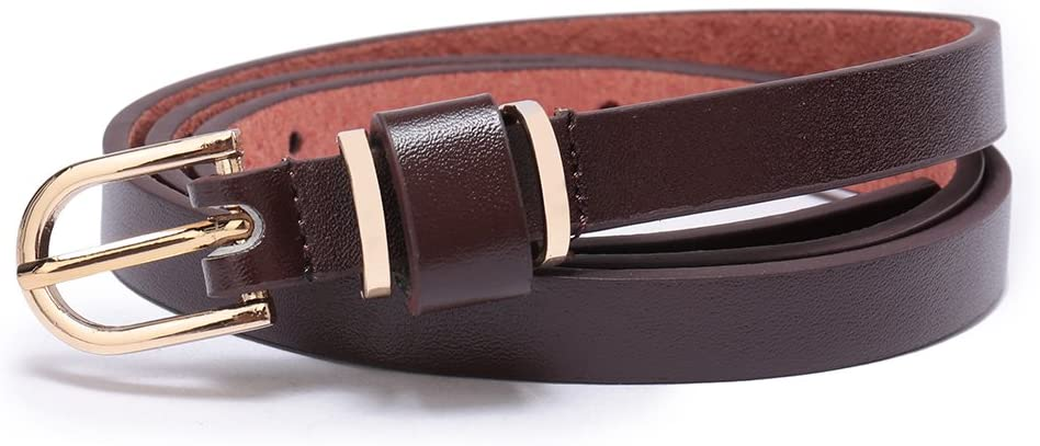 Set of Womens Skinny Leather Belt Solid Color Waist or Hips Ornament 10 Sizes 46-48, Set of One Piece White 1//2 Wide