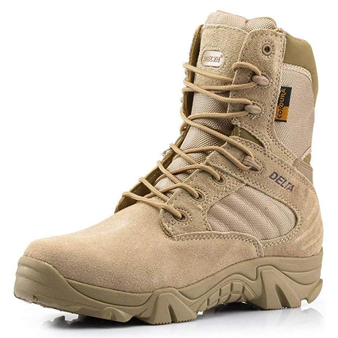 FCBDXN Hombres Delta Fuerzas Especiales Botas De Combate Desert Tactics Boot Outdoor Mountaineering Zapatillas Deportivas Army Work Utility Footwear: ...