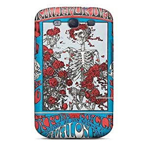 Perfect Hard Phone Cover For Samsung Galaxy S3 (Qcr8810BAtb) Unique Design Stylish Grateful Dead Series