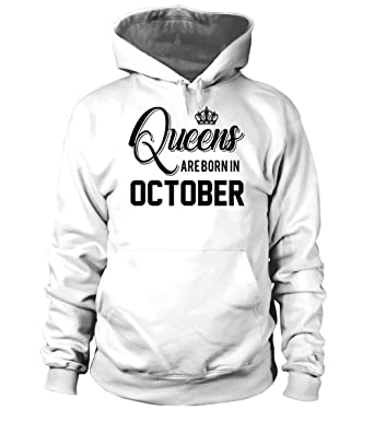 82c07015 Queens Are Born In October Hoodies at Amazon Women's Clothing store: