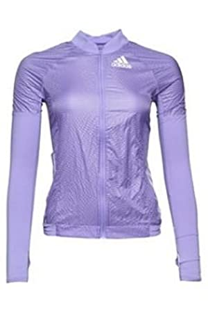 adidas Womens Adizero Formotion Running Track Jacket Light Flash Purple  (Size 34: UK 8